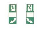 Hinterlegung für Türgriffe, grün, langnachleuchtend (Leuchtkraft/Variante: HI 150 f. Türklinke n. rechts weisend (Art.Nr.: 15.7535))