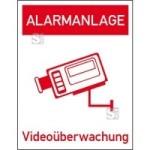 Hinweis-Kombischild, Alarmanlage Videoüberwachung (Material: Folie, einzeln (Art.Nr.: 21.g5020))