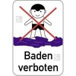 Hinweisschild, Baden verboten, 400 x 600 mm, mehrfarbig