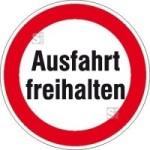 Hinweisschild für Ausfahrten, Ausfahrt freihalten
