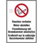 Hinweisschild für Tankanlagen und Garagen, Rauchen verboten