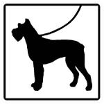 Hinweisschild für Wald- und Freizeitanlagen, Hunde bitte anleinen