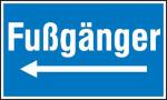 Hinweisschild zur Baustellenkennzeichnung, Fußgänger (Variante: rechtsweisend (Art.Nr.: 11.5018))