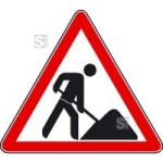 Hinweisschild zur Baustellenkennzeichnung, Vorsicht Baustelle!