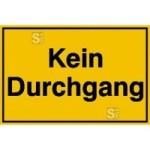 Hinweisschild zur Grundbesitzkennzeichnung, Kein Durchgang (Maße (BxH)/Material: 250x150mm/Kunststoff (Art.Nr.: 41.5299))