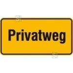 Hinweisschild zur Grundbesitzkennzeichnung, Privatweg