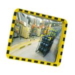 Industriespiegel -EUCRYL®- aus Acrylglas, gelb / schwarz