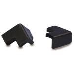 Kantenschutz-Zubeh&ouml;r (Au&szlig;enecken) f&uuml;r Modelle -Protect- Knuffi&reg;, aus PU-Schaum, selbstklebend (Modell/Farbe:  <b>f&uuml;r Kreis 40/25</b><br>zweischenkelig/schwarz (Art.Nr.: dc10810))