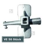 Keilspannschloss -Guß-, VE 50 Stück, für Spanndrähte 4-10 mm, Grundplatte 100 x 40 mm