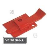 Keilspannschloss -Schalfix-, VE 50 Stück, für Spanndrähte 5-8 mm, Grundplatte 90 x 60 mm