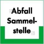 Kennzeichnungsschild Abfallsammelstelle (Maße (BxH): 200 x 200 mm (Art.Nr.: 43.6601))