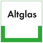 Kennzeichnungsschild Altglas (Maße (BxH)/Material: 200x200mm/Kunststoff, witterungsbeständig (Art.Nr.: 43.6609))
