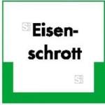 Kennzeichnungsschild Eisenschrott (Maße (BxH)/Material: 100x100mm/Folie,selbstklebend/ umweltschonend (Art.Nr.: 35.6661))
