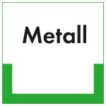 Kennzeichnungsschild Metall (Maße (BxH)/Material: 100x100mm/Folie,selbstklebend/ umweltschonend (Art.Nr.: 35.6729))