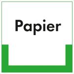 Kennzeichnungsschild Papier (Maße (BxH)/Material: 100x100mm/Folie,selbstklebend/ umweltschonend (Art.Nr.: 35.6741))