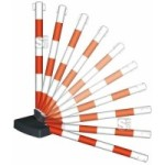 Kettenpfosten -Guarda Flex- aus Kunststoff, Höhe 900 mm, Ø 50 mm, ca. 4,5 kg, umklappbar (Farbe: rot/weiß (Art.Nr.: 11645))