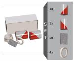 KfZ Warnmarkierung nach DIN 30710, Set, 282mm x 9m, inkl. 2 Rollen, Filzrakel und Kantenschutz