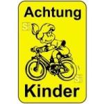 Kinderhinweisschild, Achtung Kinder, gelb / schwarz, 500 x 750 oder 650 x 1000 mm (Maße (BxH): 500x750mm (Art.Nr.: 14769))