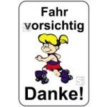 Kinderhinweisschild, Fahr vorsichtig Danke!, mehrfarbig, 500 x 750 oder 650 x 1000 mm (Maße (BxH): 500x750mm (Art.Nr.: 14759))