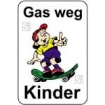 Kinderhinweisschild, Gas weg Kinder, mehrfarbig, 500 x 750 oder 650 x 1000 mm (Maße (BxH): 500x750mm (Art.Nr.: 14757))
