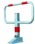 Kipp-Pfosten -SESAMprivat-, 780 mm breit (Montage/Oberfl&auml;che/Farbe: zum Aufd&uuml;beln (inkl. Bodenplatte)<br>ohne refl. Rotringe/ohne Farbe (Art.Nr.: 11849))