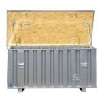 Lagerbox -STWL- 1790 x 860 x 890 mm aus Stahl, verstärkter Deckel und Boden