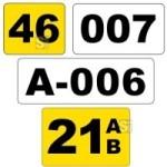 Lagerplatzkennzeichnung -WT-5113- mit Text nach Wunsch, stapler&uuml;berfahrbar (Modell/Ma&szlig;e (BxH)/Farbe (Hintergrund):  <b>120x100mm</b>/gelb (Art.Nr.: 23372))