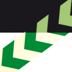 Markierungsstreifen / Richtungspfeil aus Aluminium, grün / langnachleuchtend, Länge 1000 mm