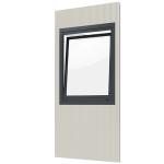 Modulares Raumsystem -Master-, Paneel mit Dreh- / Kippfenster (Anschlag: DIN-links (Art.Nr.: 36838))