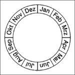 Monatsplakette (Grundplakette) für Prüfplaketten, Bogen