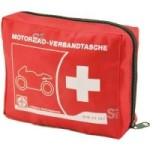Motorrad-Verbandtasche aus Nylon, Inhalt nach DIN 13 167:2014, 150 x 120 x 50 mm