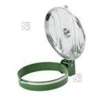 M&uuml;llsackhalter -P-Bins 85- 120 Liter aus Stahl, zur Wandmontage (Halterfarbe/Deckelfarbe: gr&uuml;n/ <b>ohne Farbe</b> (Art.Nr.: 17980))