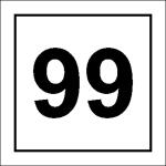 Nummernschild zum Kennzeichnen von Garagentoren und Parkplätzen
