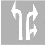PREMARK Stra&szlig;enmarkierung aus Thermoplastik -Abbiegepfeile- u. -Zusatzabbiegepfeile-, gem. RMS / BASt-gepr&uuml;ft (Modell/Ma&szlig;e (L&auml;nge)/Verpackungseinheit (VE):  <b>Zusatzpfeil rechts</b><br>passend zu Pfeill&auml;nge 5000 mm<br>VE 2 Stk.