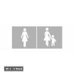 PREMARK Stra&szlig;enmarkierung aus Thermoplastik -Sonderzeichen Fu&szlig;g&auml;nger / Frau- (Ma&szlig;e (HxB)/Motiv/Verpackungseinheit: 3000 x 1500 mm/Frau mit Kinderwagen/<br> <b>VE 1 Stk.</b> (Art.Nr.: 12007))