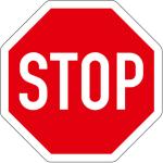 PREMARK Straßenmarkierung aus Thermoplastik, achteckige VZ, gemäß StVO