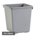 Papierkorb -P-Bins 17-, VE 4 St&uuml;ck, 21 oder 27 Liter aus Kunststoff (Volumen/Farbe/Ma&szlig;e(HxBxT)/Verpackungseinheit: 21 Liter/ <b>grau</b><br>310x270x270mm/VE 4 Stk. (Art.Nr.: 17522))