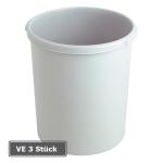 Papierkorb -P-Bins 26-, VE 3 St&uuml;ck, 30 Liter aus Kunststoff (Farbe/Verpackungseinheit:  <b>schwarz</b>/VE 3 Stk. (Art.Nr.: 17506))