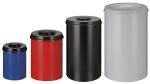 Papierkorb -P-Bins 42- 15, 30, 50 oder 110 Liter aus Stahl, selbstl&ouml;schend (Volumen/Ma&szlig;e (&Oslash;xH&ouml;he)/Farbe (Oberteil/Beh&auml;lter):  <b>15 Liter</b>/225x360mm<br>grau/grau (Art.Nr.: 24163))