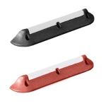 Parkhilfe / Radstop / Bordsteinaufkantung -Mountain-, Gummi, Länge 750 mm, Höhe 90 mm, versch. Farben (Farbe/Reflexband: rotbraun/weiß (Art.Nr.: 11786))