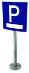 Parkplatzbeschilderung, Aluminium, einseitig, zum Aufdübeln, flach oder gewölbt, optionaler Text
