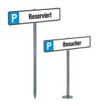Parkplatzbeschilderung -Bremen-, Gesamtl&auml;nge 550 mm (Aufd&uuml;beln) oder 750 mm (Einschlagen) (Befestigung:  <b>zum Einschlagen</b><br>Gesamtl&auml;nge ca. 750 mm (Art.Nr.: 14682))