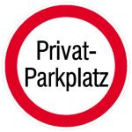 Parkplatzkennzeichnung/ Hinweisschild, Privatparkplatz