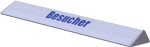 Parkplatzschwelle -Exclusive-, Aluminium (L&auml;nge/Beschriftung: 700 mm /  <b>ohne Beschriftung</b> (Art.Nr.: 35943))