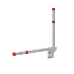 Parkplatzsperre -Acero Doppelarm- 70x70 mm aus Aluminium, zur Wandmontage