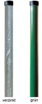 Pfeiler für Spiegel aus Stahl, Höhe 4 m (Farbe: verzinkt (Art.Nr.: pot76))