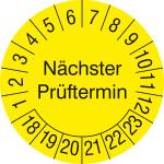 Pr&uuml;fplaketten Jumbo ohne Jahresfarbe (6 Jahre), N&auml;chster Pr&uuml;ftermin, 2018 / 2023 - 2021 / 2026, Bogen (Ma&szlig;e &Oslash;/Menge/Zeitraum: &Oslash; 100mm/einzeln<br>2018-2023 (Art.Nr.: 21.3733-18))