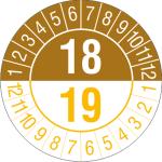 Prüfplaketten mit Jahresfarben (übergreifend, 2 Jahre), 2018 / 2019 - 2021 / 2022, Bogen