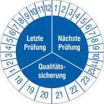 Prüfplaketten ohne Jahresfarbe (6 Jahre), Letzte / Nächste Prüfung..., 2018 / 2023 - 2021 / 2026, Bogen (Zeitraum: 2018-2023 (Art.Nr.: 30.3668-18))
