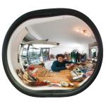 Raumspiegel -INDOOR- aus Acrylglas, oval (Ma&szlig;e (BxHxT)/max. Beobachterabstand: 365x275x80mm/ <b>3m</b> (Art.Nr.: 18764))